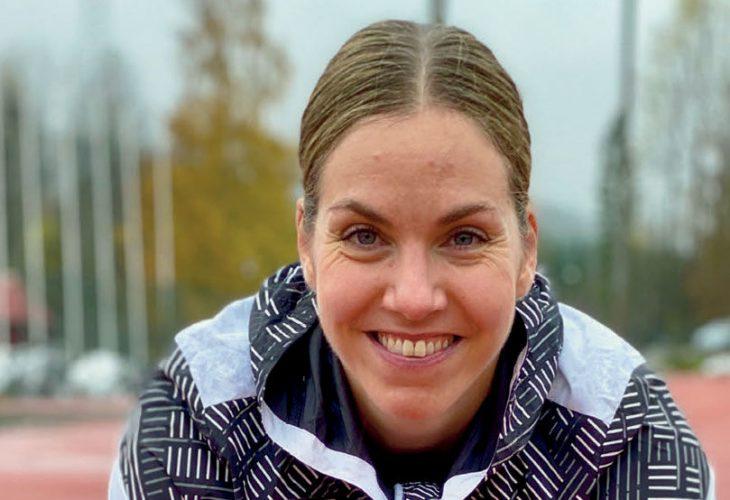 NIH-BANEN: Elisabeth liker seg svært godt på NIH-banen på Sognsvann. PORTRETTET