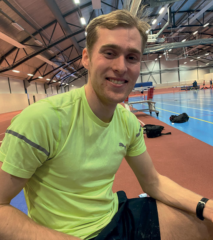 SIKTER MOT U-23 EM: Fredrik Gerhardsen Øvereng trener godt og har U-23 EM som mål til sommeren.