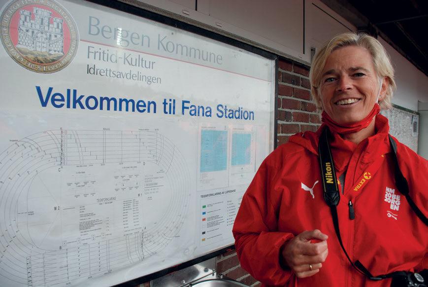 KAN BLI MAGISK: – Dette kan bli magisk, mener Anita Bolstad Raa om U23-EM på vakre Fana stadion i juli. FOTO: ANDERS SEIM BERENTSEN.