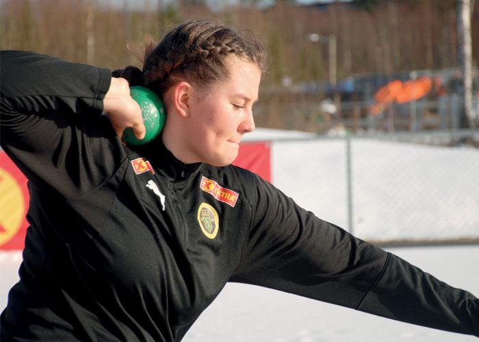 NY TEKNIKK: Rotasjonsteknikken var ny for Hanna Emilie Hjeltnes i fjor, og ga umiddelbare resultater. Men hun har mye å gå på, og jobber utrettelig med å videreutvikle den.