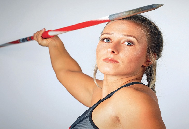 FØRSTE NORSKE KVINNE: Hun har kastet 61,37 meter i spyd i år, og ble som første norske kvinne, NCAA Champion, USA i juni. Kastlengden plasserer henne som tredje beste i Norge noensinne.